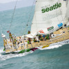 Clipper Race. Youngest Ever Skipper Claims Line Honours